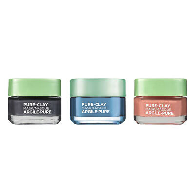 L'Oréal Paris Pure-Clay Mask Variety Pack of 3