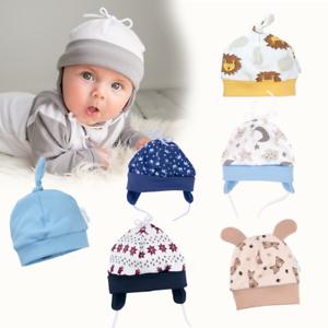 Baby Mütze Junge Babymütze Erstlingsmütze Baumwolle Jungen Haube 56 62 68 bis 86