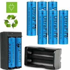 Zoom 5Modes Flashlight Rechargeable Battery 9900mAh 3.7V 18650Li-ion Batteries