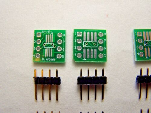 3Pcs SOP-8 to DIP /& SO8//SOP8 to DIP PCB Adapter Board  /& 6 sets of header pins