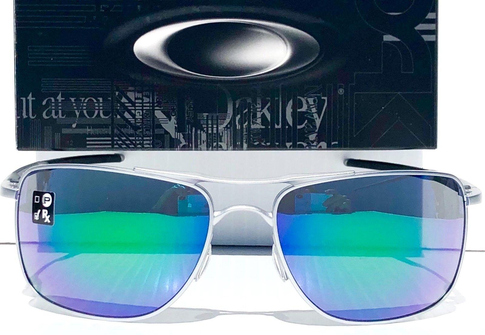 31b258b29cf Oakley 0oo4124 Gauge 8 Rectangle Unisex Sunglasses Jade Iridium Matte Lead  62 for sale online