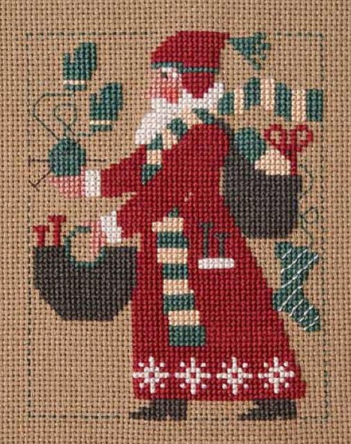 2007 Yearly Santa Knitting Prairie Schooler Cross Stitch Pattern Ebay