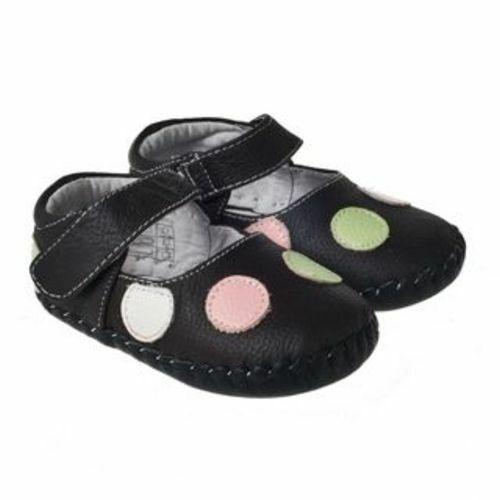 Little Blue L Baby Girls Infant Toddler Brown Spotty REAL Leather Cruiser Shoes