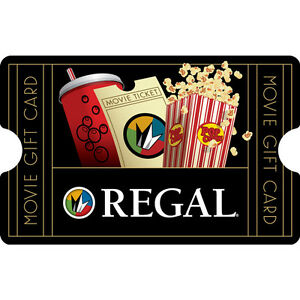 $10 / $25 Regal Entertainment Physical Gift Card - 1st Class Mail Delivery