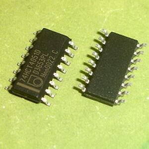 QTY:10 PEZZI 74HC4051 IC 8-chan.analog multiplexer//demultiplexer TSSOP16 SMD