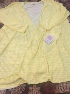 Nwt Lularoe Xxl 2xl Caroline Yellow White New Print Pockets Nwt