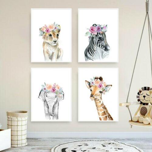 Home Décor Fl Crown Baby Animal