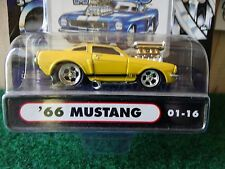 Muscle Machines 66 Ford Mustang GT 350 Yellow 1:64  Diecast 1966 01-16
