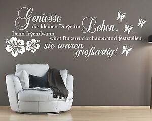 X996-Wandtattoo-Spruch-Geniesse-die-kleinen-Dinge-im-Leben-denn-Aufkleber