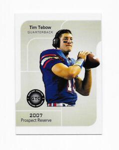 Details About 2007 Gtc Glare Prospect Reserve Tim Tebow Rookie Card Rc Heisman Florida Gators