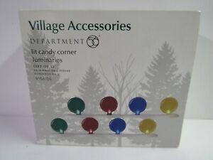 Dept 56 Village Accessories Lit Candy Corner Luminaries 4058726 Set Of 2 MIP