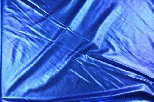 Metallic Blue Foil Jersey Knit Fabric 150cm wide