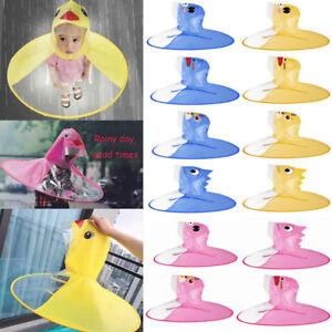 d0a932c4529 Image is loading Cartoon-Duck-Children-Kid-Raincoat-Umbrella-UFO-Shape-