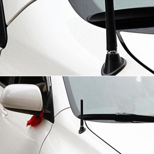 """Car Aerial Antenna 4.7/"""" Auto Aluminum Alloy Carbon Fiber FM AM Radio Universal"""
