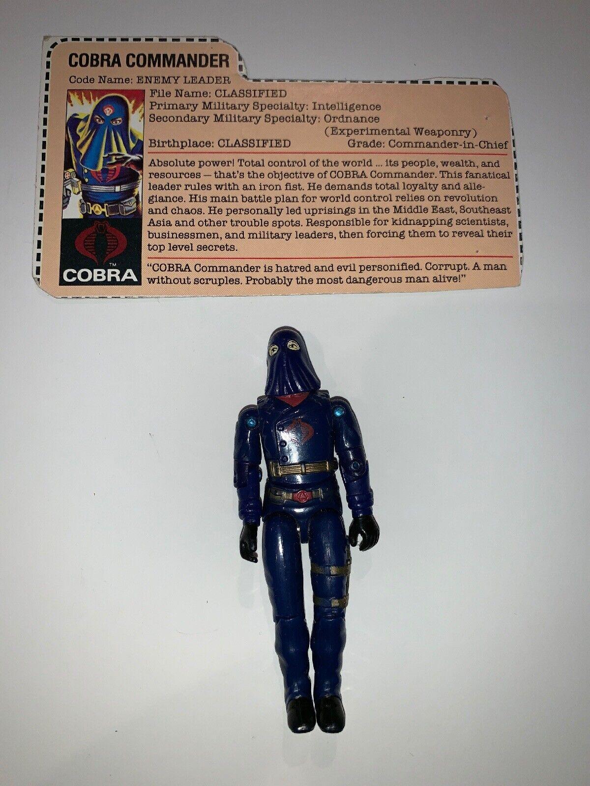 "1984 Hasbro Hasbro Hasbro Gi Joe Cobra Commander 3 3 4"" Action Figure,(B146) 5c3c39"