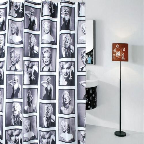 environ 182.88 cm Marilyn Monroe motif de rideau de douche salle de bains Tissu Imperméable 72 in Crochets