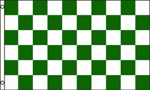 green white checkered flag 3x5 ft checker checkerboard pattern