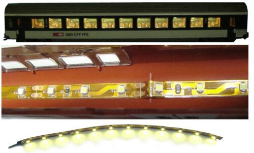 2 LED Personen Waggon Beleuchtung warmweiß digital 20cm