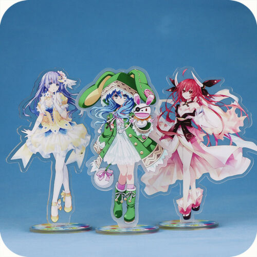 DATE A LIVE Transparent Acrylic Figure Stand Card Two-sided Decoration Cosplay