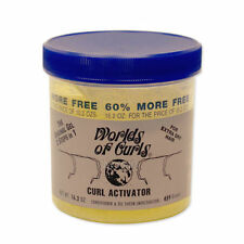 Worlds of Curls For Extra Dry Hair 3 Steps In 1 Curl Wave Activator Gel 16.2 oz