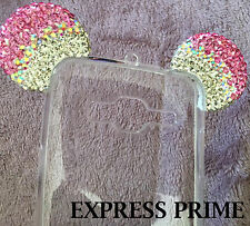Samsung Galaxy EXPRESS Prime - Pink Diamond Minnie Mouse Ears Rubber Case Cover