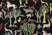 "PIERRE FREY CURTAIN FABRIC REMNANT ""ANIMALS"" 185 X 145 CM 100% COTTON"