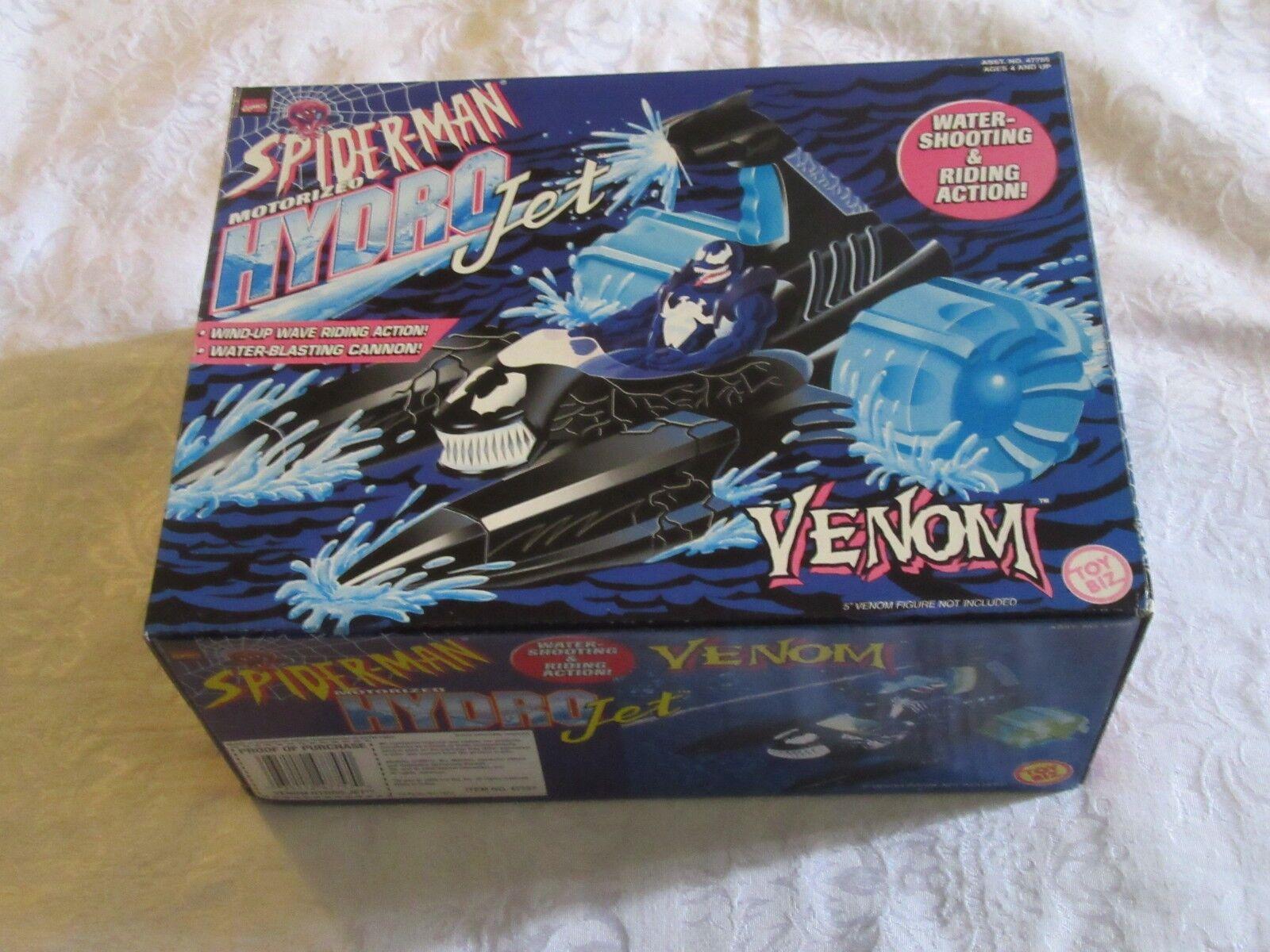 ToyBiz Marvel Comics Spider-Man Motorized Hydro Jet Hydrojet Venom Faded Box