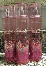 Bath And Body Works TWISTED PEPPERMINT Fragrance Mist Splash X3