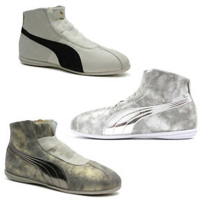 2128b6ff6d4be Details about Puma Rihanna Collection Eskiva Mid Lo Metallic Womens Boots  Trainers Leather 361