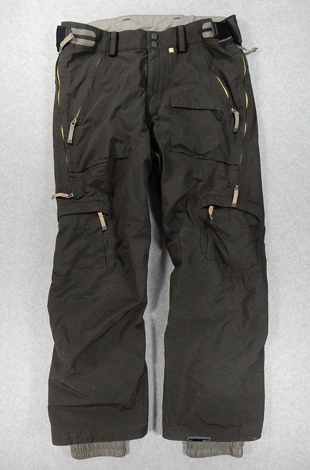 Bonfire KINETIC T10 WaterProof Breathable Ski SnowBoard Pants (Mens Large) Brown