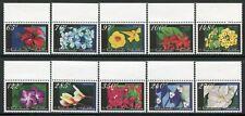 Niederländische Antillen 2004 Blumen Flowers Blüten Blossoms Plant 1355-1364 MNH