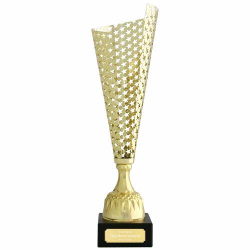Wanderpokal VITRE Pokal wahlweise mit Gravur gold aus Metall 40 cm