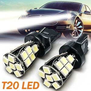 2x-T20-Lampada-5050-W21-5w-21-Led-Smd-12v-6000k-No-Error-Daytime-Drl-Canbus