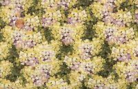 'marche De Fleurs' Packed Lilac Hydrangeas Fabric