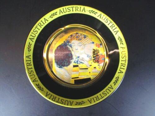 Gustav Klimt Teller gold platiert 11,5cm,Souvenir Austria Österreich,Neu