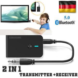 2-In1-Bluetooth-5-0-Transmitter-Receiver-Sender-Empfaenger-USB-Aux-Audio-Adapter
