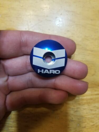 "Haro BMX Repop Bicycle Headset Top Cap 1 1//8/"" Blue Stem Cap Bike Robinson"