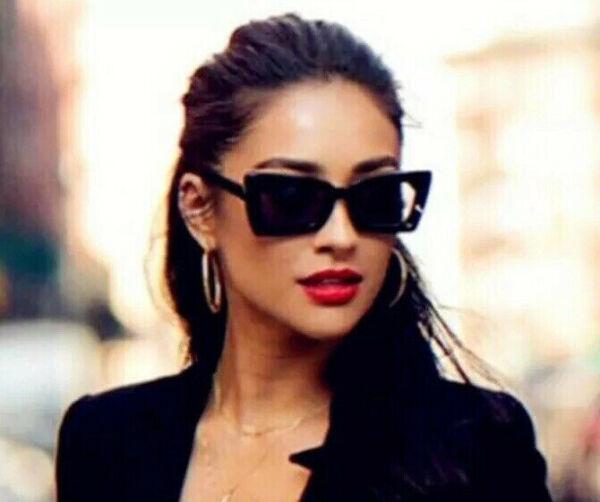 Abundante Gafas De Sol Señora Vintage Retro Blogueros Designer Style Negro Nuevo 2019-ver