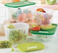 Tupperware 4 Vegetable Storage Containers Set Fridgesmart Collection Brand New
