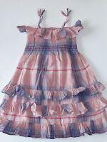 Baby Gap Girls 18-24 Months Smocked Dress Pink Plaid Sable Island Summer