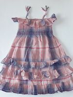 Baby Gap Girls 18-24 Months Smocked Dress Pink Plaid Sable Island Summer
