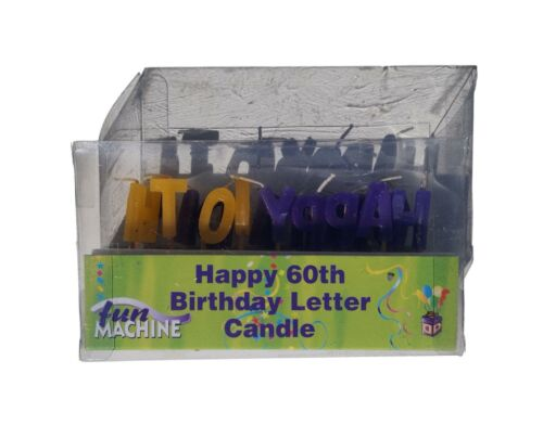 Happy 60th Birthday Letter Candles