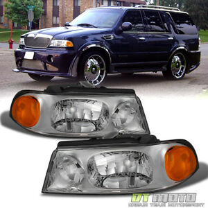 Image Is Loading 1998 2002 Lincoln Navigator Replacement Headlights Headlamps 98