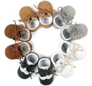 Newborn-Baby-Boy-Pram-Shoes-Infant-First-Shoes-Toddler-Pre-Walker-Trainers-0-18M