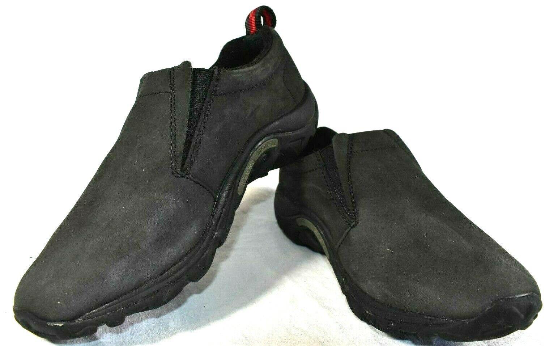 Merrell Size 8 Womens Jungle Moc Black Nubuck Leather Slip On shoes