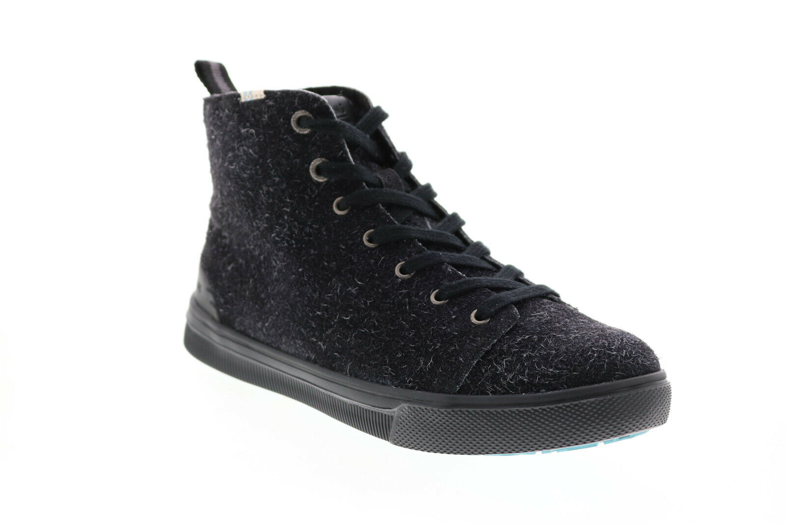 Toms TRVL LITE High 10014106 Womens Black Suede Lace Up Lifestyle Sneakers Shoes