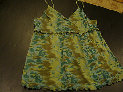 INC international concepts size XL camouflage top with braided straps
