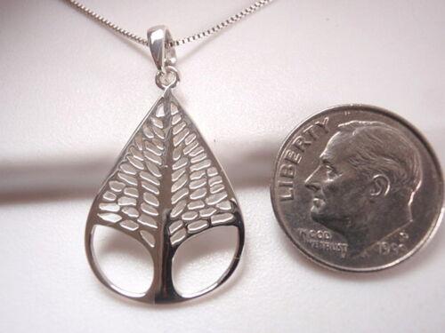 Tree of Life Teardrop Shaped Pendant 925 Sterling Silver Corona Sun Jewelry