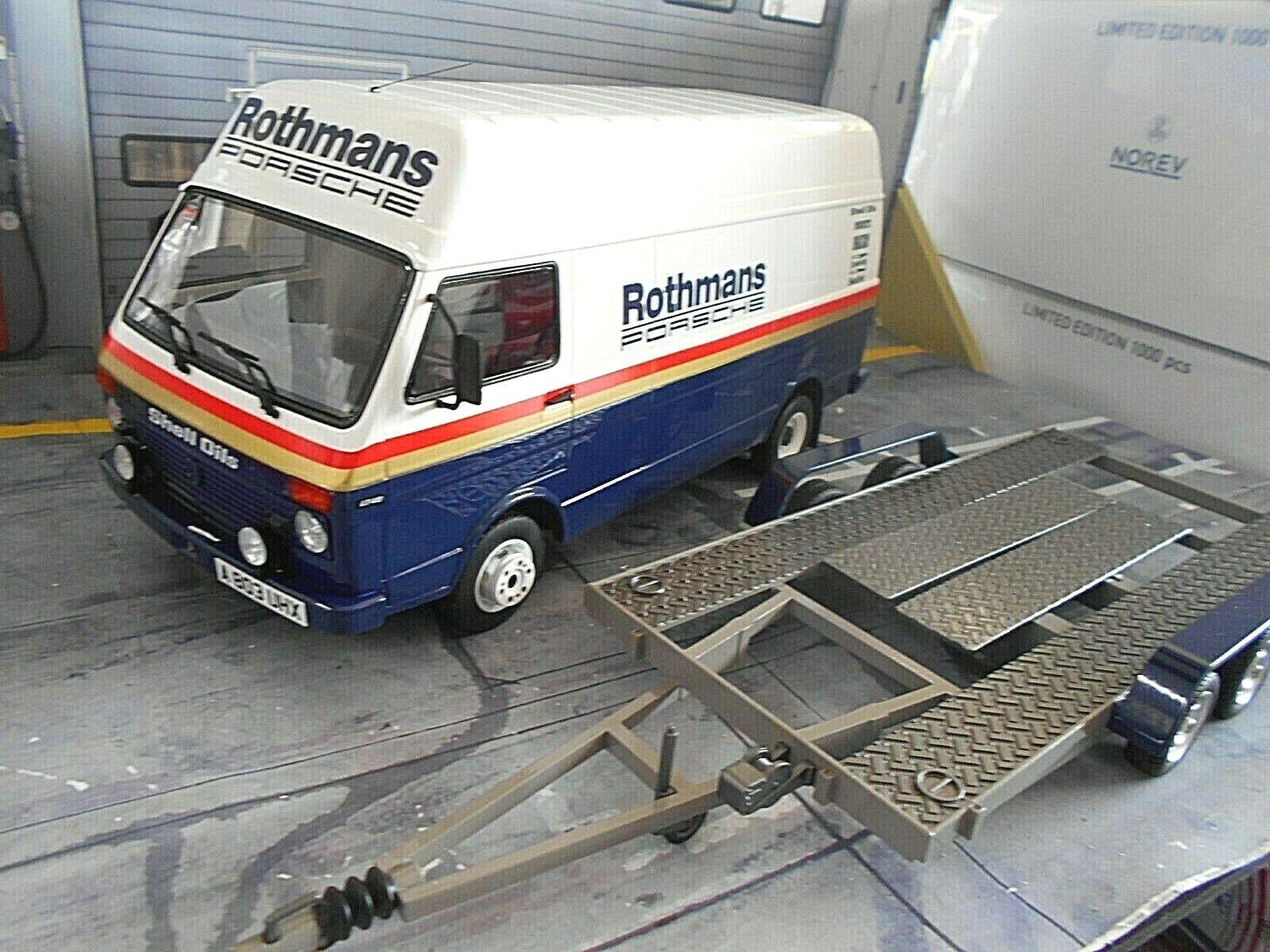 SET VW Volkswagen LT Van Service Prodrive Rallye + TRAILER Rothman Otto 2x 1 18