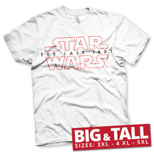 The Last Jedi Logo 3XL Officially Licensed Star Wars 5XL Men/'s T-Shirt 4XL